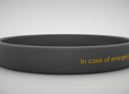 Stylish Medical ID bracelet for athletes, children, chronic illnesses, and more - Gallery Image