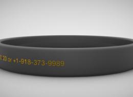 Bracelete de identificação elegante médico para atletas, crianças, doenças crônicas, e muito mais - Gallery Image