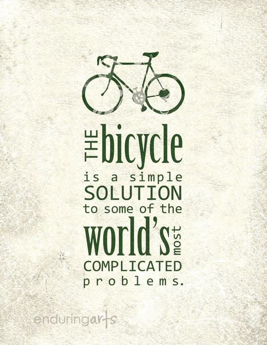 the bicycle is a simple solution